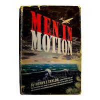 Vintage Author Autographed Book Men In Motion