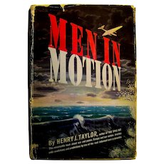 Vintage Author Autographed Book Men In Motion