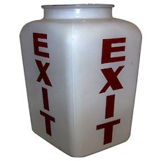 Vintage Art Deco Theatre Emergency Lighted Exit Sign