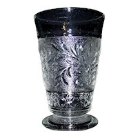 Vintage Anchor Hocking Sandwich Glass Footed Tumblers
