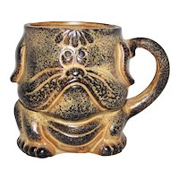 Vintage Made In Japan Dog Figural Ceramic Coffee Cup