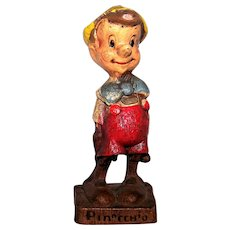 Vintage 1940's Syroco Wood Pinocchio Statue