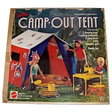 Vintage 1972 NIB Barbie Camp Out Tent