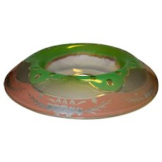 Vintage EAPG Multi-Colored Etched Console Bowl