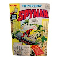 Vintage Harvey Comics Issue #1 Top Secret Adventures Spyman
