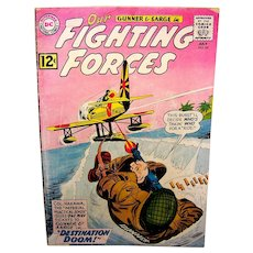 Vintage 1962 DC Comic Book Issue Our Fighting Forces
