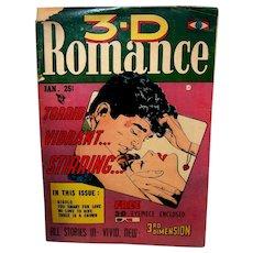 Vintage Rare 1954 3-D Romance Comic Book