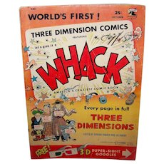Vintage 1953 Whack Three Dimensional Comic Book