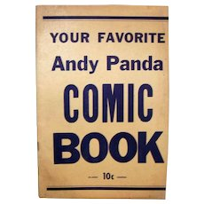 Vintage 1959 Rare Blank Variant Cover Issue Andy Panda Comic Book