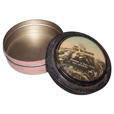 Vintage Pikes Peak Souvenir Powder Tin