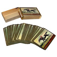 Vintage Duratone Horse Racing Playing Cards