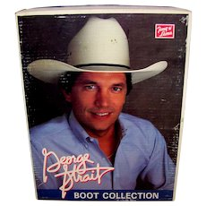Vintage 1980's George Strait Tony Lama Boot Box