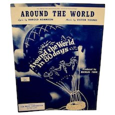 Vintage 1956 Sheet Music Around The World IN 80 Days