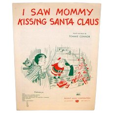 Vintage 1952 Sheet Music I Saw Mommy Kissing Santa Claus