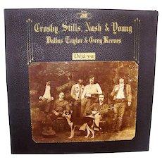 Vintage Crosby, Stills, Nash and Young Deja Vu Vinyl Album