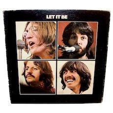 Vintage Original Beatles Let It Be Vinyl LP Album