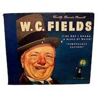 Vintage Original W.C. Fields Life Story On Vinyl LP Records