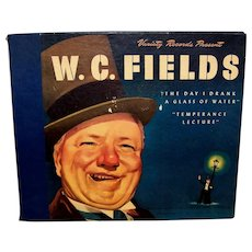 Vintage Original W.C. Fields Life Story On Vinyl LP Records