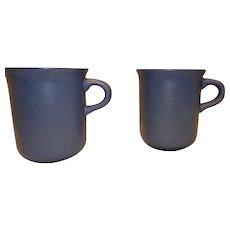 Vintage Original Dansk Mesa Sky Blue Coffee Mugs Made in Portugal