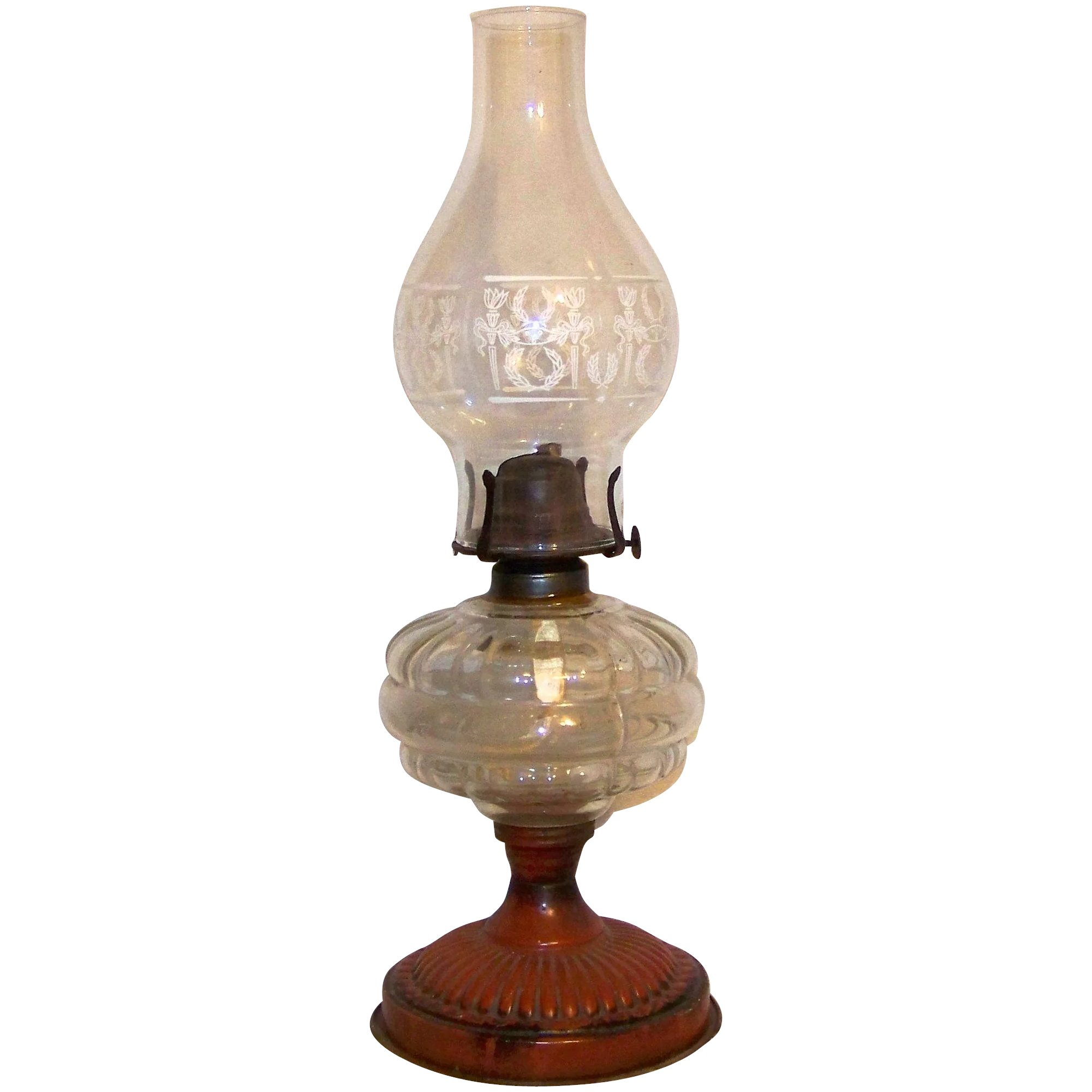 Picture of: Vintage Early Century White Flame Kerosene Lamp My Grandmother Had One Ruby Lane