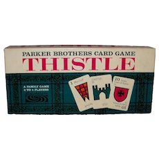 Vintage 1966 Parker Brothers Card Game Thistle