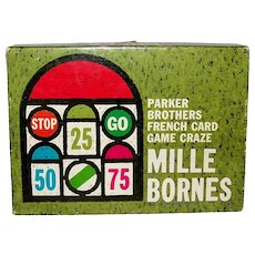 Vintage 1960 Parker Brothers French Card Game Mille Bornes
