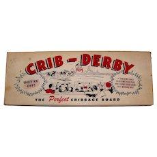 Vintage 1950's Taplin Toys Inc. Crib-Derby Game