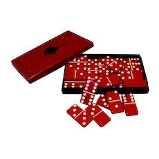 Vintage Crisloid Plastics Company Top Grade Brand Domino Set