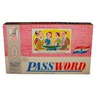 Vintage 1963 Milton Bradley Board Game Password