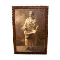 Vintage Decorative Trimmed Wooden Picture Frame