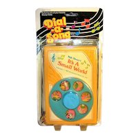 Vintage 1963 Copyright Disney It's A Small World After All Dial-A-Song Children's Toy