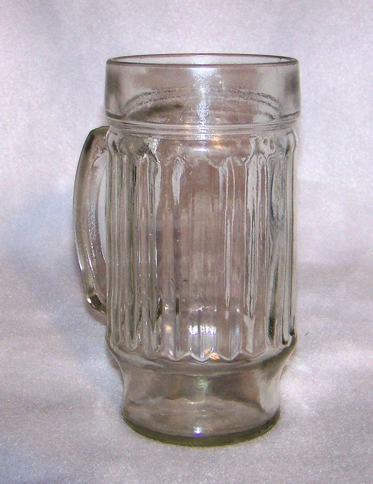 Vintage 1950 S Styled Ribbed Glass Mugs My Grandmother