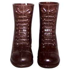 Vintage G.I. Joe Doll 1964 original first issue Brown High Top boots.