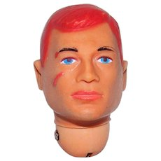 Vintage Hasbro 1966 G.I. Joe Action Soldier Original Redhead Replacement Head