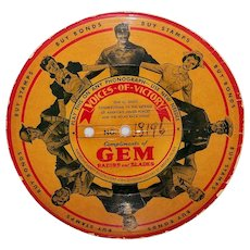 Vintage 1940's Gem Razors & Blades Voice-O-Graph Advertising 78 RPM Record