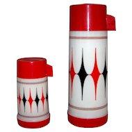 Vintage 1970's Aladdin Vanguard #3C Vacuum Thermos Set