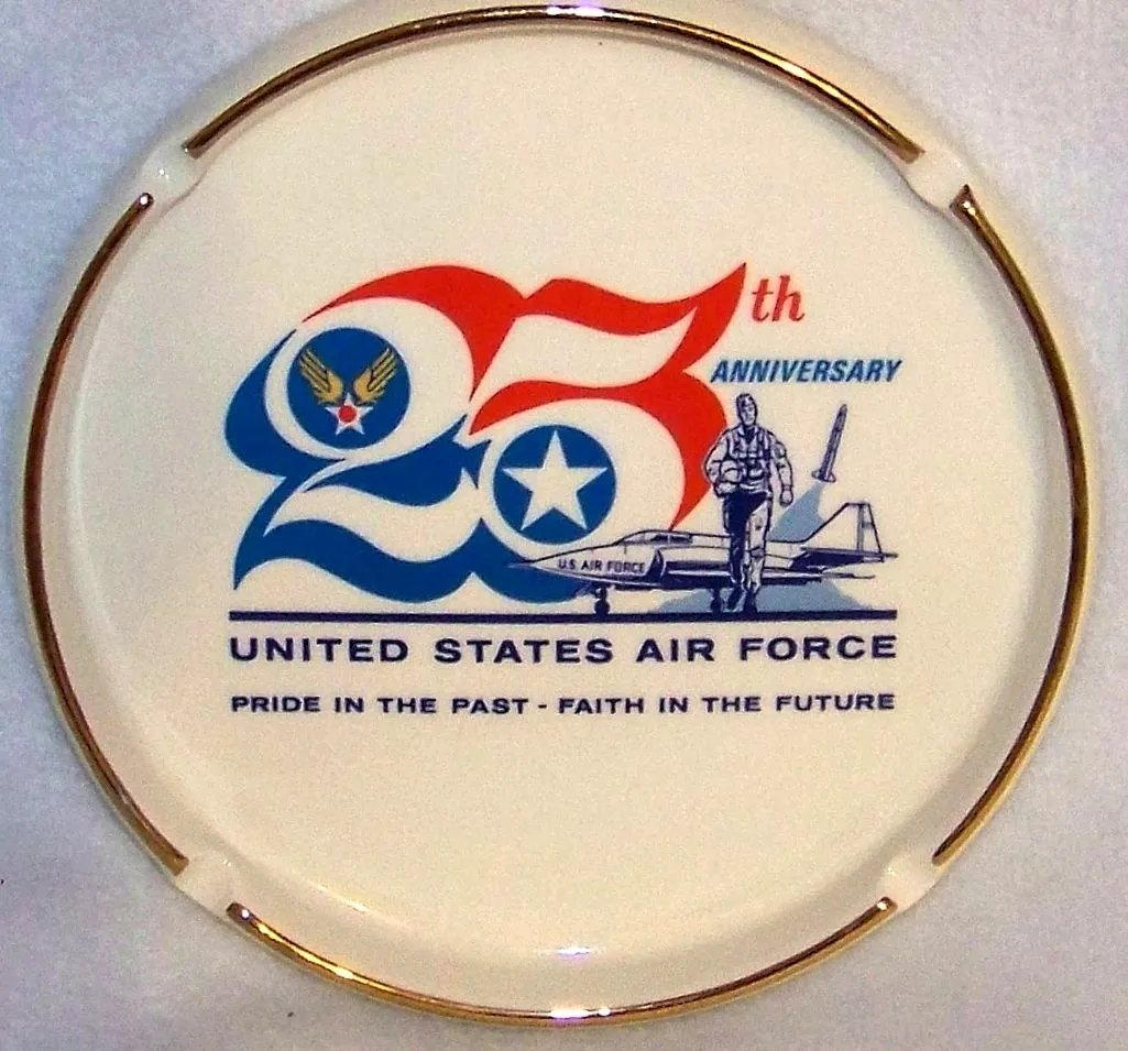 Vintage 1972 United States Air Force 25th Anniversary