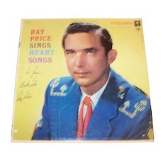 Vintage 1957 Autographed Ray Price Record Album
