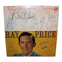 Vintage 1958 Autographed Ray Price Record Album