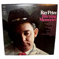 Vintage 1965 Autographed Ray Price Record Album