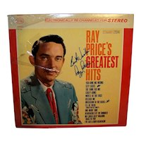 Vintage 1961 Autographed Ray Price Compilation Record Album