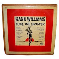 Vintage 1955 Hank Williams Sr. MGM Record Album