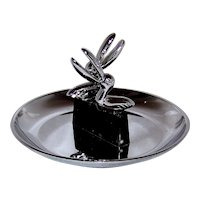 Vintage MId-Century Polished Chrome Pincherette Ashtray By Hamilton Products