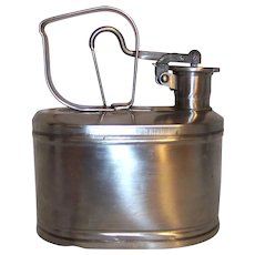 Vintage Protectoseal Company Stainless Steel One Gallon Petrol Can