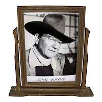 Vintage Art Deco Wooden Swinging Portrait Frame
