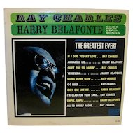 Vintage 1969 Ray Charles & Harry Belafonte The Greatest Ever Album