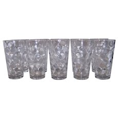 Vintage Hazel Atlas El Dorado Clear Iced Tea Glass Set