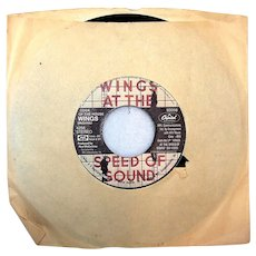 Vintage 1976 Paul McCartney & Wings At The Speed Of Sound Capitol Records Vinyl 45 RPM Record