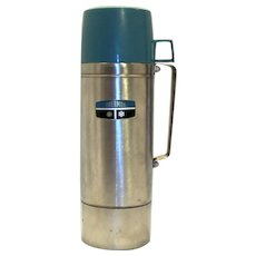 Vintage 1970's Thermos Brand Stainless Steel Thermos