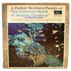 Vintage 1968 Parker Brothers Jacques Cousteau Undersea World Puzzle